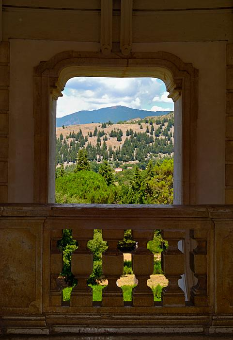 kozzi-Landscape view from a window of the staircase of the baroque Certosa-598x868