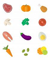 kozzi-26735734-Food icons set Vector color healthy food icons set-1779x2135