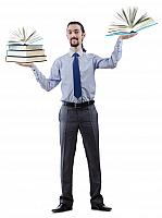 kozzi-7389837-Businessman with books on white-1682x2258