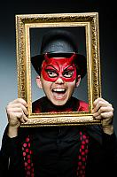 kozzi-12234070-Funny devil with picture frame-1179x1780