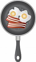 kozzi-189538-vector image of a two omelettes on pan-1106x1898